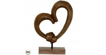 """Статуетка – декорация от дърво """"Сърце – обвързани"""" – 30 см. Модел – 81-6677 – Smart Choice"""