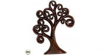 """Статуетка – декорация от дърво """"Широколистно дърво"""" – 38 см. Модел – 81-6682 – Smart Choice"""