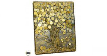 """Сувенир – Пано декорация за стена """"Дървото на парите"""" – 30 см. Модел DM-9027 – Smart Choice"""