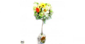 "Сувенир – Цветно дърво – топиар ""Лятно настроение"" – 50 см. Модел DM-9024 – Smart Choice"