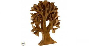 """Статуетка – декорация от дърво """"Тропическо дърво"""" – 40 см. голямо. Модел – 81-6680 – Smart Choice"""