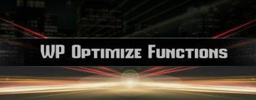 WP Optimize Functions – плъгин за WordPress | Маркетинг и реклама