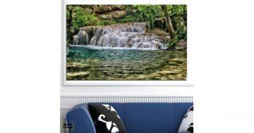 Картина пано за стена от 1 част с Крушунските водопади – HD-581-1 – Smart Choice