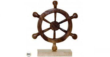 """Статуетка – декорация от дърво """"Морски рул"""" – 33 см. Модел – 81-6676 – Smart Choice"""