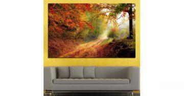 Картина пано за стена от 1 част с приказна есенна горска пътека – HD-764-1 – Smart Choice