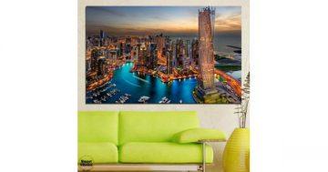 Картина пано за стена от 1 част с изглед от Дубай – HD-331-1 – Smart Choice
