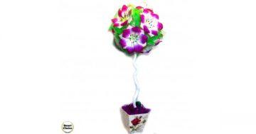 Сувенир – Цветно дърво – топиар от изкуствени цветя – 56 см. Модел DM-9022 – Smart Choice