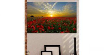 Картина пано за стена от 1 част с изображение на поле с макове – HD-609-1 – Smart Choice