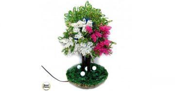 """Сувенир – Декоративно дърво от мъниста """"Летен спомен"""" – 32 см. Модел DM-9025 – Smart Choice"""