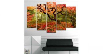 Декоративно пано за стена от 5 части Японската градина в Портланд САЩ – HD-765 – Smart Choice