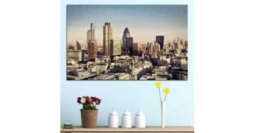 Картина пано за стена от 1 част с изглед от Лондонското Сити – HD-450-1 – Smart Choice