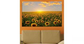Картина пано за стена от 1 част със слънчогледи – HD-040-1 – Smart Choice