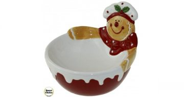 """Коледна купа за сладки 16 см. """"Коледно мече"""". Модел 22-6461 – Smart Choice"""