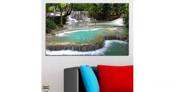 Картина пано за стена от 1 част – Романтичен горски водопад – HD-518-1 – Smart Choice