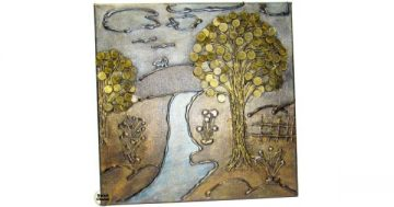 "Сувенир – Пано декорация за стена ""Селска рекичка"" – 40 см. Модел DM-9028 – Smart Choice"