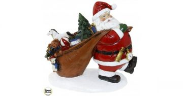 "Коледна статуетка ""Дядо Коледа с подаръци"" 23 см. Модел 23-6494 – Smart Choice"