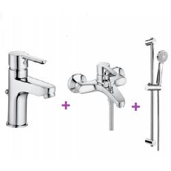 Arola смесители 3 в 1 за умивалник, вана и душ и тръбно окачване   Онлайн магазин Бани Рока