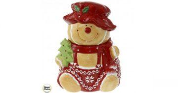 """Коледна купа за сладки с капак 22 см. """"Коледно мече"""". Модел 22-6455 – Smart Choice"""