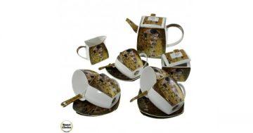 "Порцеланов сервиз за чай или кафе – ""Целувката"" 21 части. Модел 79-5395 – Smart Choice"
