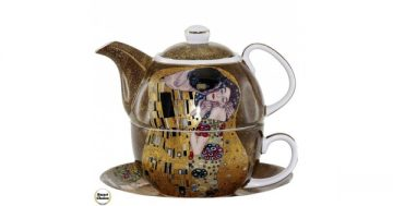 "Комплект за чай – чаша и чайник ""Целувката"" 16 см. Модел 79-4758 – Smart Choice"