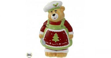 """Коледна купа за сладки с капак 26 см. """"Коледно мече"""". Модел 22-6466 – Smart Choice"""