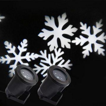 Комплект LED лазер снежинки | Светещи коледни фигури | Коледна украса | Дианид – LED осветление