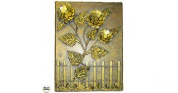 """Сувенир – Пано декорация за стена """"Вълшебни цветя"""" – 40 см. Модел DM-9029 – Smart Choice"""