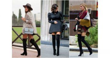 Ботуши над коляното – как да ги комбинираме с облеклото