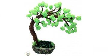 """Сувенир – Декоративно дърво от мъниста """"Дърво Бонсай"""" – 28 см. Модел DM-9038 – Smart Choice"""