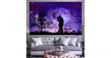 Картина пано за стена от 1 част – Космическа романтика – HD-864-1 – Smart Choice