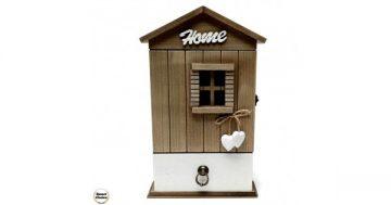 """Декоративна дървена кутия за ключове """"Home"""" къщичка – 26 см. Модел 88-921 – Smart Choice"""