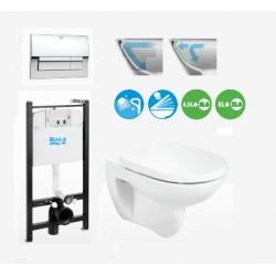 DEBBA ROUND промоция стенна тоалетна без ръб с АКТИВ казанче| Онлаин магазин Бани Рока