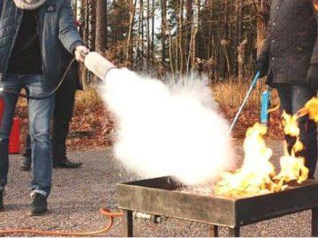 Ползване на пожарогасител – Пожарна безопасност за начинаещи