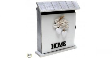 """Декоративна дървена кутия за ключове """"Home"""" – 25 см. Модел 89-023 – Smart Choice"""