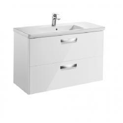 Мебел с умивалник THE GAP 100 см в цвят бял гланц | Онлайн магазин Бани Рока