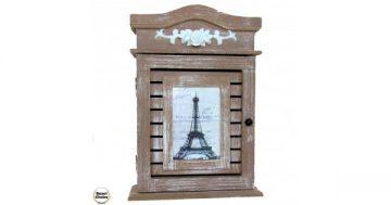 """Декоративна дървена кутия за ключове """"Айфеловата кула"""" – 30 см. Модел 4815 – Smart Choice"""