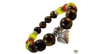 Дамска гривна от естествени камъни Тигрово око, Карнеол и Кварц – DM-2413 – Smart Choice