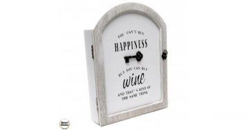 """Декоративна дървена кутия за ключове """"Happiness"""" с ключе – 29 см. Модел 88-906 – Smart Choice"""