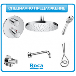 Душ-система Roca VICTORIA термостатична с подвижен душ и душ-пита | Онлайн магазин Бани Рока