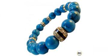 Дамска гривна от естествени камъни Тюркоаз – DM-2414 – Smart Choice