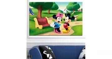 Картина пано за стена от 1 част с Мики Маус и Мини – HD-454-1 – Smart Choice