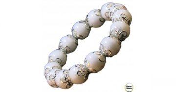 Дамска гривна от естествени камъни бял Оникс – DM-2217 – Smart Choice