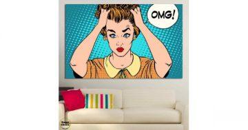 """Картина пано за стена от 1 част в стил Комикс """"Притеснена домакиня"""" – HD-791-1 – Smart Choice"""