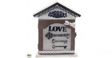 """Декоративна дървена кутия за ключове """"Love"""" – 30 см. Модел 80-7073 – Smart Choice"""