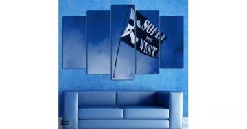 Декоративно пано за стена от 5 части – Sofia West 1999 – HD-890 – Smart Choice