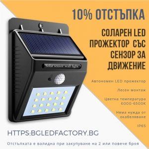 Лесни за монтаж автономни LED прожектори със сензор за движение – 10% отстъпка до 28.04.2019 | Дианид – LED осветление