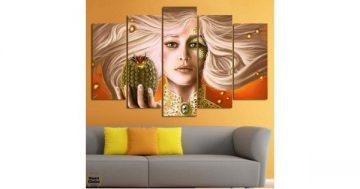 """Декоративно пано за стена от 5 части – """"Игра на тронове"""" – Денерис Таргариен – HD-939 – Smart Choice"""