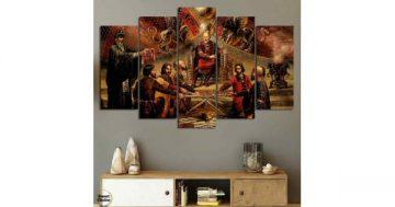 """Декоративно пано за стена от 5 части """"Заветът на хан Кубрат"""" – HD-914 – Smart Choice"""