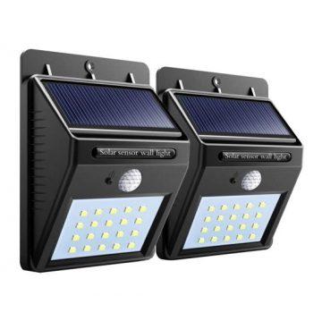 Комплект 2 броя стенен соларен LED прожектор | LED прожектори | Дианид – LED осветление