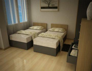 Как да разпределим мебелите: двойна спалня или две единични легла